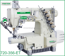 ST 720T-365-ET HIGH SPEED SMALL CYLINDER BED 3-NEEDLE 5-THREAD INTERLOCK SEWING MACHIN /INDUSTRIAL BRAND NAME SEWING MACHINE