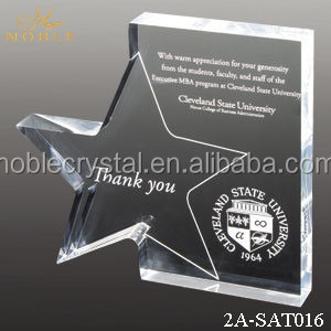 Souvenir Gifts Sports Trophy and Awards Crystal Plaque