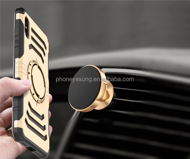 For iphone 8 Case Sport Armband Belt Cover Defender Case Impact Hybrid Armor Hard Protect Cover Plus Car Holder Stand Magnetic