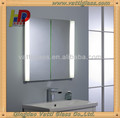 double coated silver mirror&large frameless bathroom mirrors
