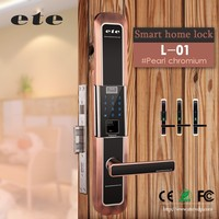 2016 ete Access Control Security Long-Type digital fingerprint electric strike door lock