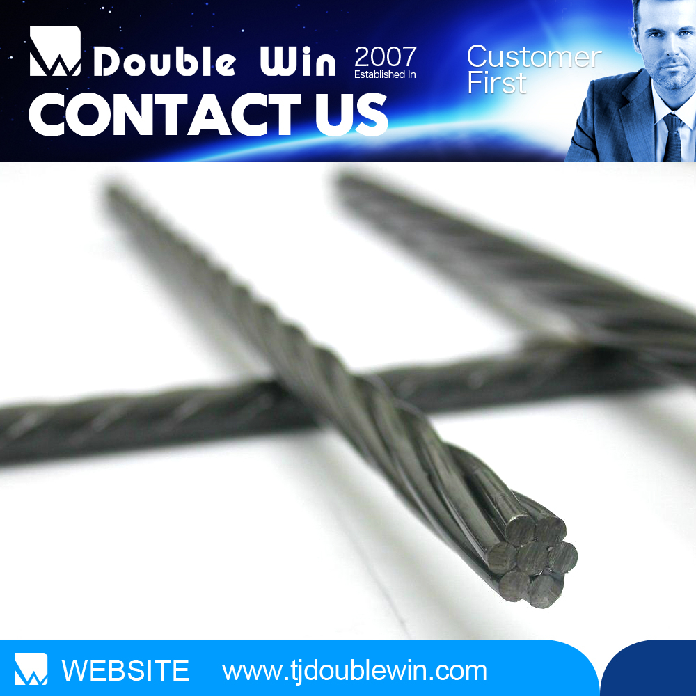 7 wire strand/prestressed cable/epoxy coated steel strand