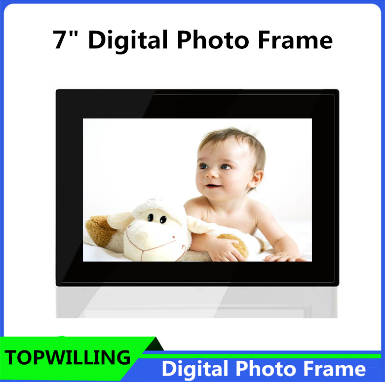 Remote Control 7 inch Black/White Digital Photo Frame