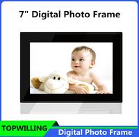 Remote Control 7 inch Black/White Digital Photo Frame