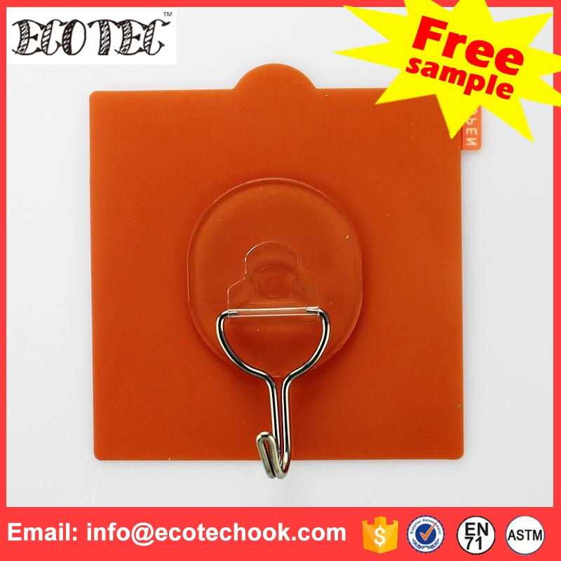 Non-trace exquisite self adhensive plastic hook magnetic wall hanger