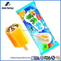 Laminated plastic popsicle bag/plastic popsicle packaging bag
