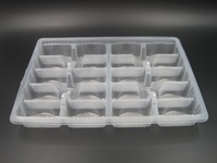 PP Blister plastic food packaging tray for dumpling with 20 cells and clear lid