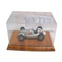 Hot sale clear acrylic car display box case superman display case