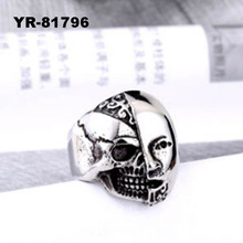 316L Stainless Steel Male Skull Ring Fashion Jewelry Wholesale