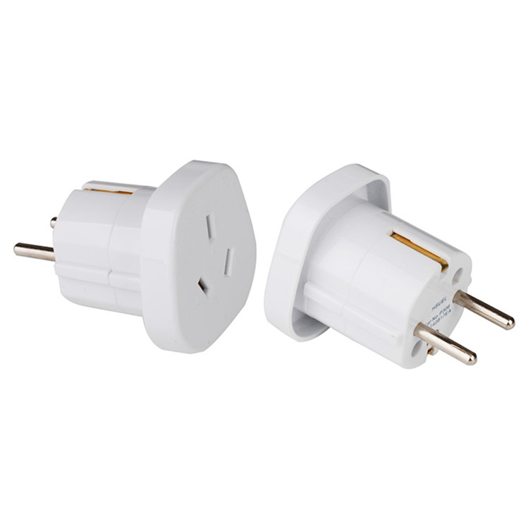 Grounded Australia /Chinese to europe plug adapter 16a 250v power schuko plug female schuko plug