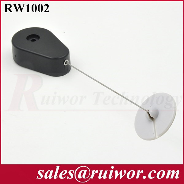 Drop-shaped Retractable secure recoiler widely used in cabinet or retail product positioning