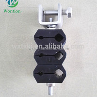 CABLE CLAMP FOR FIBRE AND POWER