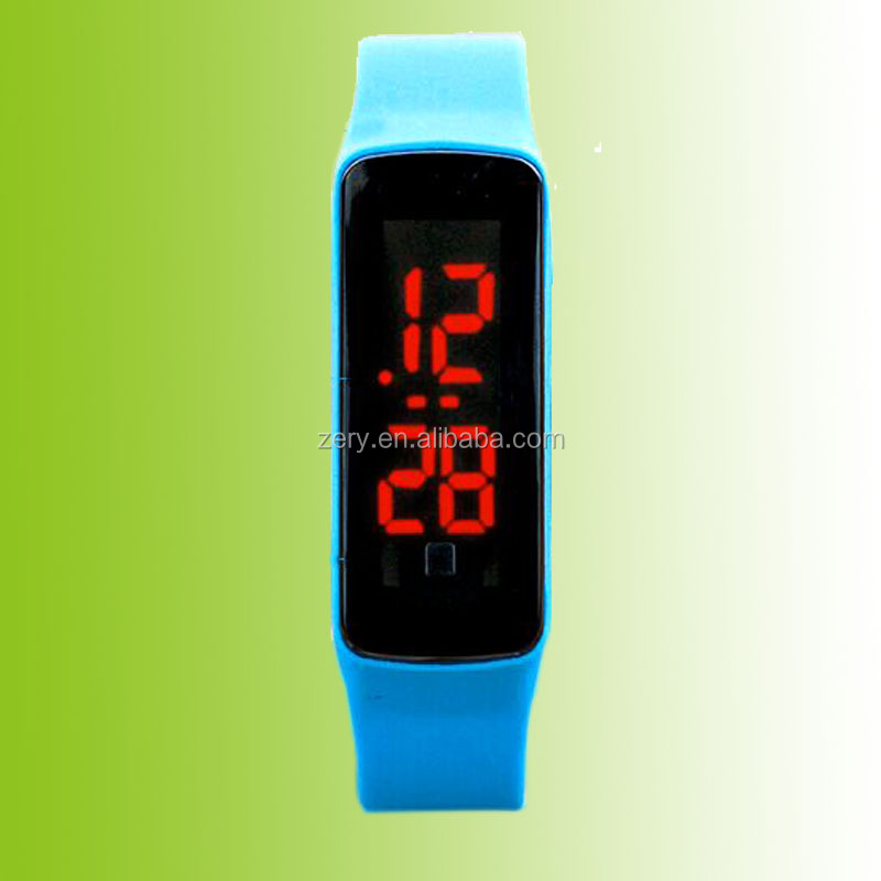 R0804 2016 Led silicone yong girl and boy watch
