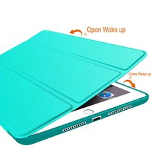 for iPad Air Case, Ultra Slim Lightweight Smart Case Trifold Cover Stand with Flexible Soft TPU Back Cover for ipad5