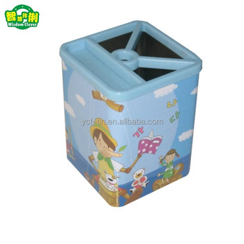Flower design Pen Holder Pot Makeup Brush Holder vase pencil rack