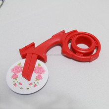 ceramic wheel motorcycle pizza cutter with plastic holder