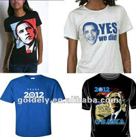 The voting t shirt for promotion in 2013 made in China
