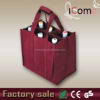 2015 Hot Selling Eco-friendly bulk reusable wine tote bags (ITEM NO:W150441)