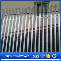 Low Price Steel D Section Fence Palisade Security Fencing For Train/Power Stations/Parks
