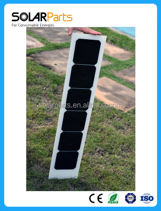 Narrow Long Thin Film 18W 3 volt Semi Flexible Solar Panel