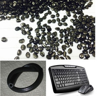 Black Plastic Polyethylene Masterbatch pellets with Caco3 filler