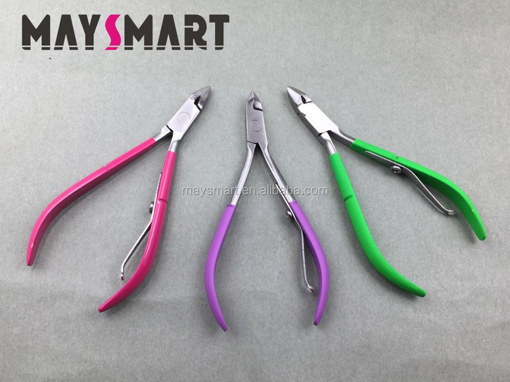 Most Popular Manicure Tool Stainless Steel Professional Green/Red/Purple Nail Cuticle Nipper