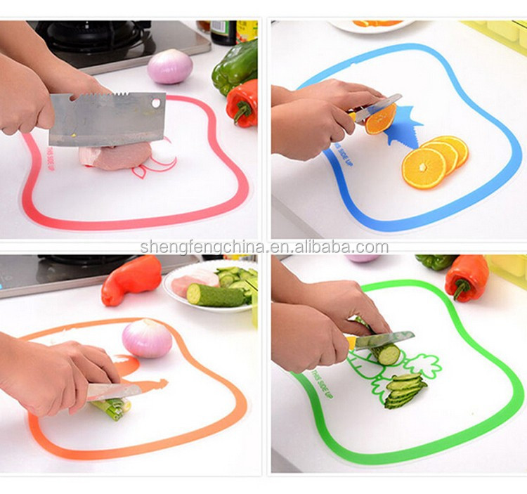 flexible plastic cutting board with food Icons,cutting board set
