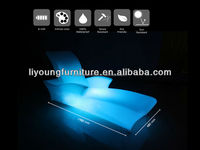 2015 Led illuminated furniture wholesale chairs and tables plastic sun lounger LGL61-9541