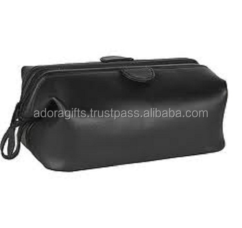 leather ladies cosmetic storage bag used during long business trip