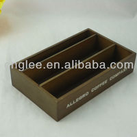 Wooden Tea Bag Display Box Without