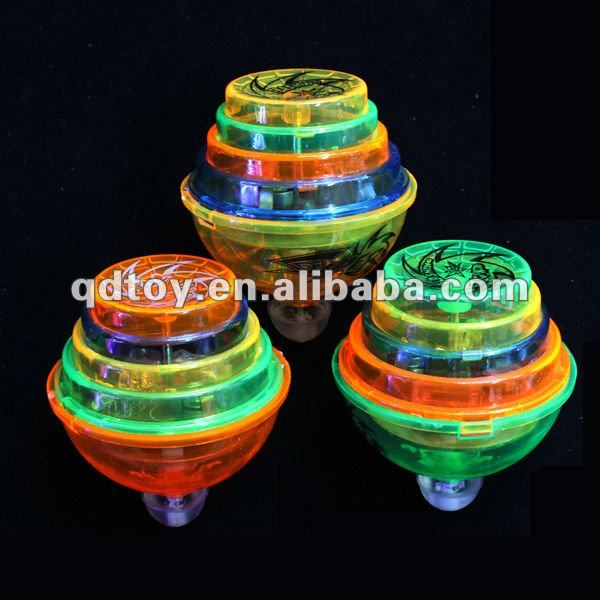 LED flashing spinning top , Friction top