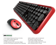 round keycap merbrane wireless keyboard and mouse