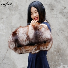 CX-H-17C Fashion Gold Hand Tote Bag Fox Fur Bags
