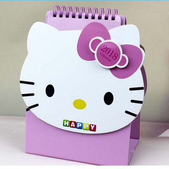 Popular hello kitty stylish printing table calendar