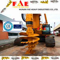 Hydraulic auger drilling rig construction hammer pile driver