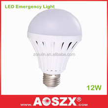 AOSZX 6-8 Hours Lighting B22/E27 with Back-Up Battery 12W Rechargeable Bulb Emergency LED Bulb Light