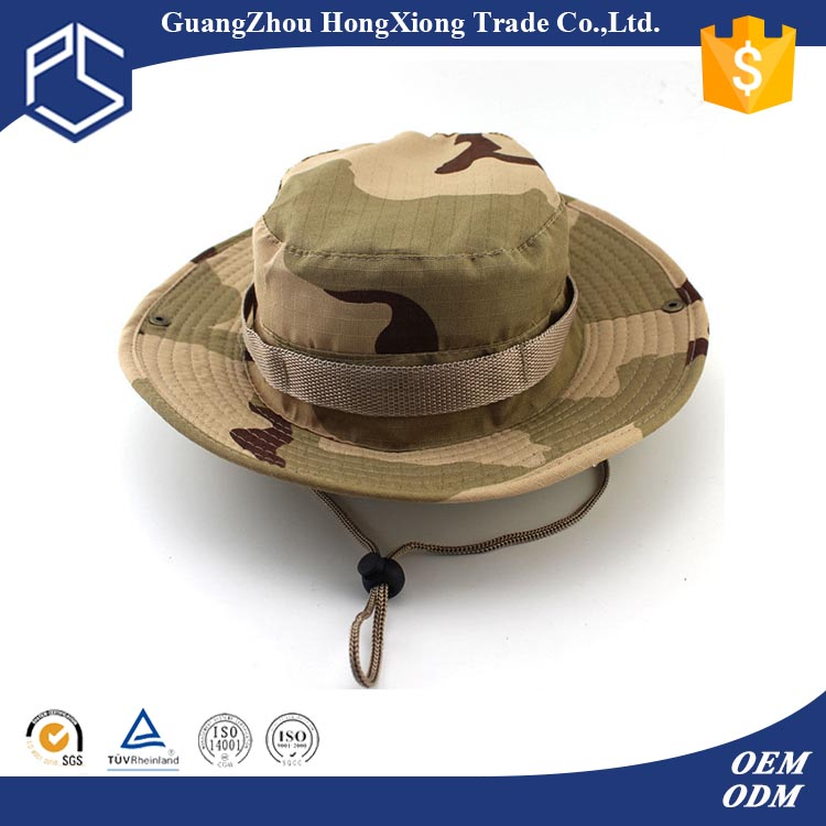 Custom camo with string blank military boonie hat