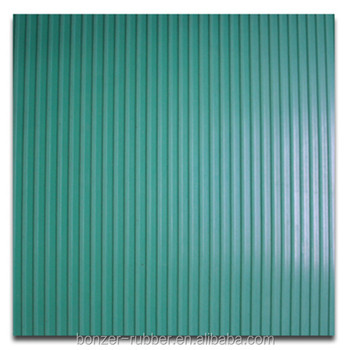 green color Fine Ribbed Rubber Matting