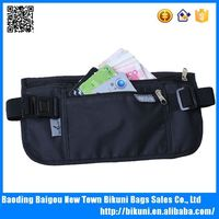 Waterproof ripstop nylon travel waist RFID money belt bag