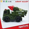 Cut Diecast Alloy Metal Army Military Truck Vehicle Car Toys Friction