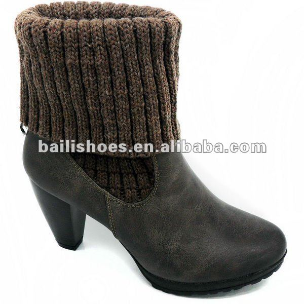 New fashion ladies high heel short boots for winter 2012