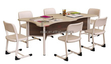 Library reading table,library furniture study table,teen table and chairs library