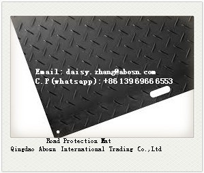 Engineered plastic temporary road mats / construction road mats