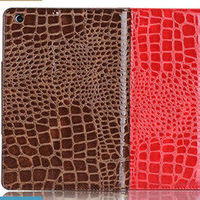 Hot sale fashion leather crocodile case for ipad mini,stylish leather case for ipad mini with stand function,factory price cover