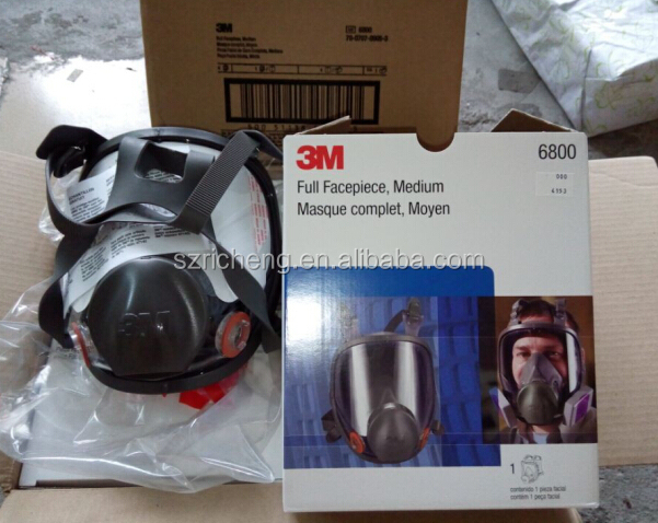 medium size full face mask 3m respiradores 6800 for respiratory protection with 3M cartridges and filters