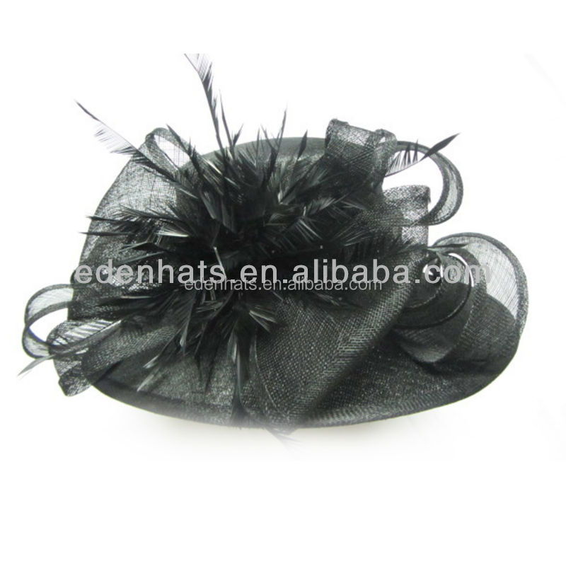 Fashion Ladies Church Hats Women Dress Hats with Feather