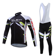 Men's Cycling Jersey Suit Long Sleeve Mountain Bike Road Bicycle Shirt