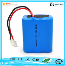 Hot sale CE ROHS UL approvals ni-mh aa 2400mah 7.2V battery pack for Irobot series