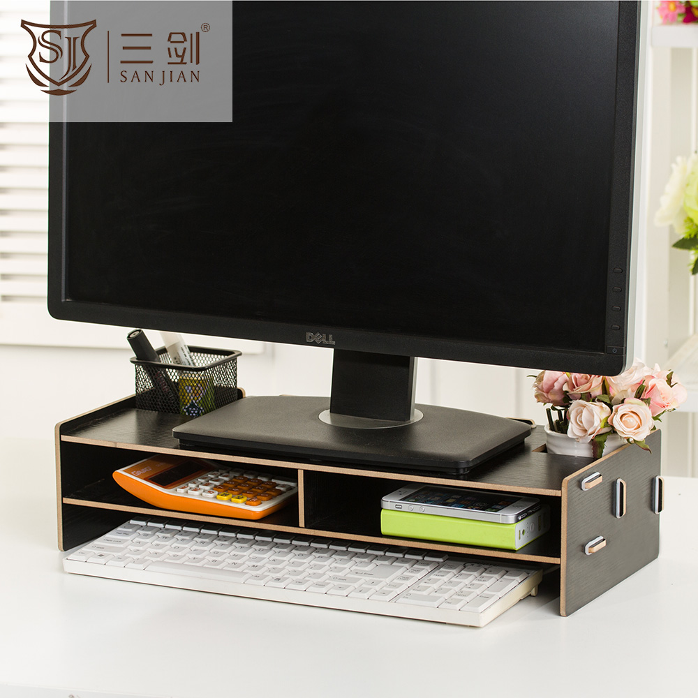 Wholesale Office Furniture Type Cheap Price Folding Adjustable Wooden Laptop Racks