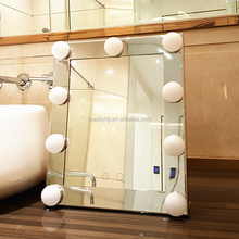 9pcs dimmable led bulb light makeup mirror desktop vanity table with lighted mirror for makeup